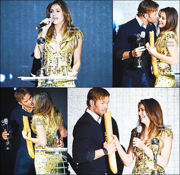 27/05/2014 : Nina Dobrev s'est rendue à la cérémonie des « World Music Awards » à Monte-Carlo (Monaco)