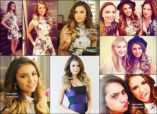 * 19/05/2014 : la belle Nina a assisté à l'événement organisé par « Air Optix Colors » qui a eu lieu à New York.  *