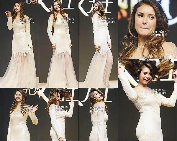 03/07/2014 : Actuellement en Chine, Nina Dobrev a assisté  à   l'événement « LUX Shampoo Promotional ».