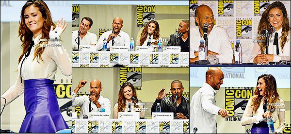 25/07/2014 : Nina était au « Comic-Con » de San Diego, afin de parler de son nouveau film : « Let's Be Cops ».