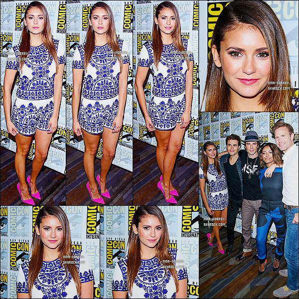 26/07/2014 : Nina et le cast de TVD se sont rendus au « Comic-Con » de San Diego, afin de parler de la saison 6.