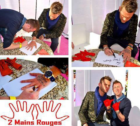 "SOUTENIR UNE ASSOCIATION GRACE A VOTRE IDOLE ""2 MAINS ROUGES""!!"