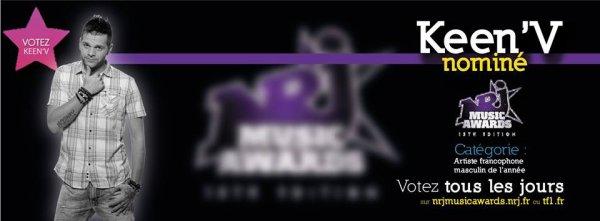 KEEN'V NOMINE AUX NRJ MUSIC AWARDS!!