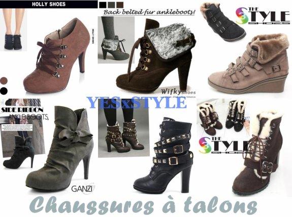Chaussure A Talon Hiver