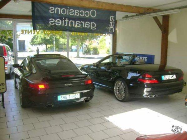 Porsche 911 Turbo vs Mercedes SL 55 AMG SPECIAL 1000 EME VISITE