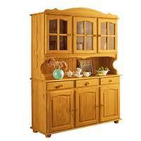 Meuble de cuisine en pin huil couleur miel 150 - Buffet de cuisine en pin ...