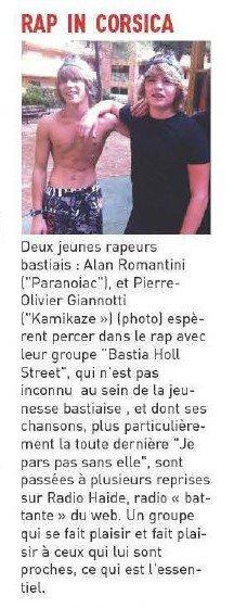 Le Journal de la corse - Rap In Corsica