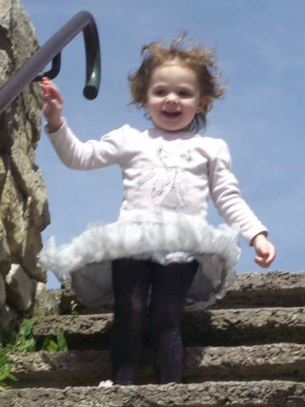 moi et ma fille promenade au chateau
