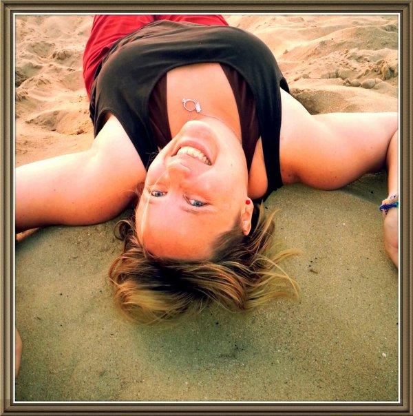 Photo a la plage trop mimi non
