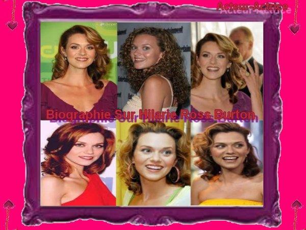 Biographie De Hilarie Ross Burton