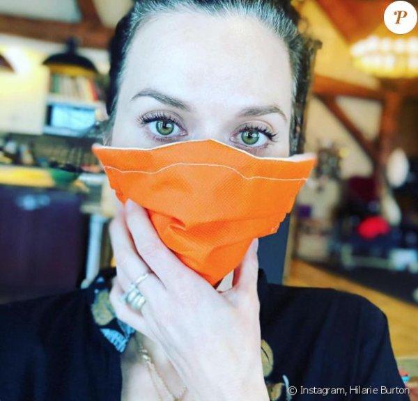 hilarie burton fabrique des masques