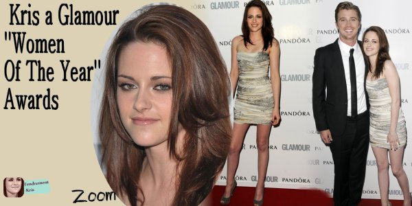 APPARITION: 7Juin 2011 - Kristen a Glamour 'Women Of The Year' Awards