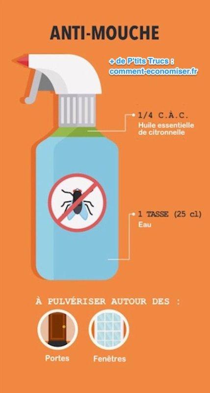 Fabriquez un répulsif contre les mouches à partir d'herbes fraîches ou séchées.