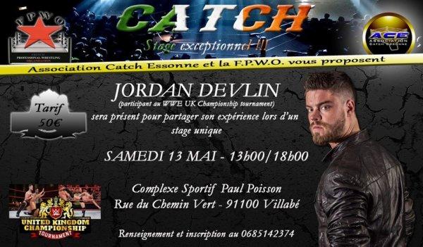 Stage avec Jordan Devlin