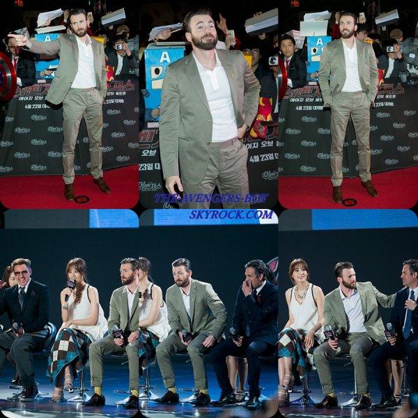 """Avengers: Age of Ultron"" Séoul Conférence de presse"
