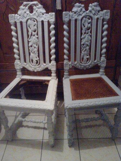 chaises pr par es avec la sous couche d 39 accroche l opro. Black Bedroom Furniture Sets. Home Design Ideas