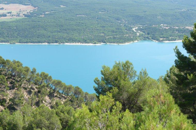 Avant mon retour sur Marseille ,je vous montre 5 photos du Lac de Sainte croix du Verdon