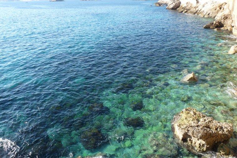 Le ciel aujourd'hui et la mer (Castellane 6 ème et Corniche ) Marseille