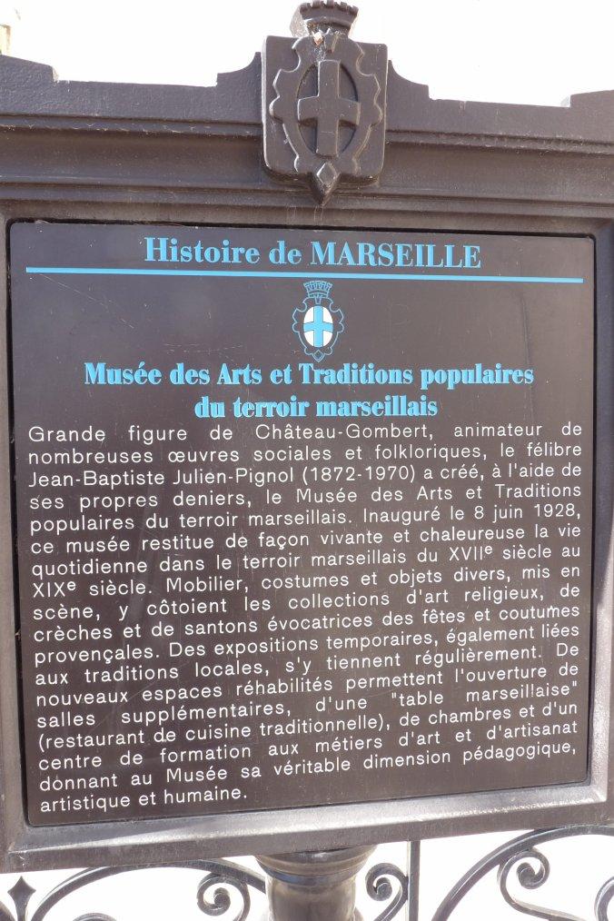 Musée Provençal  dans le village de CHâteau- Gombert   Marseille