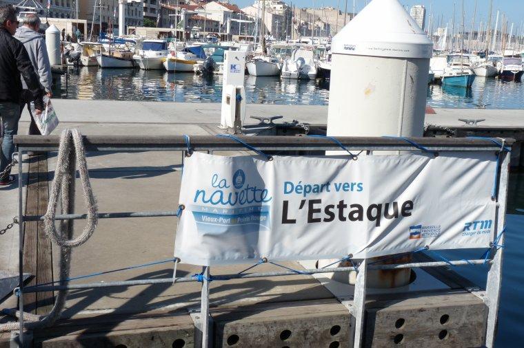 Voici la navette qui fait l'aller retour Vieux Port L'Estaque