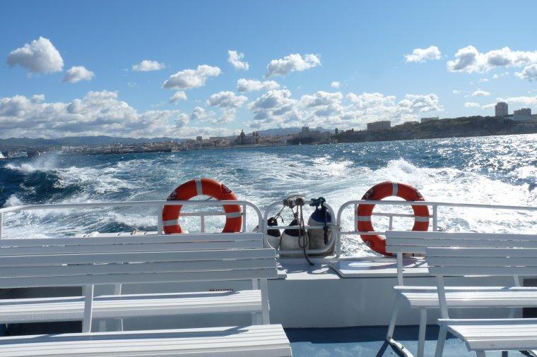 J'ai fait une traversée en mer du vieux Port de Marseille à la pointe Rouge