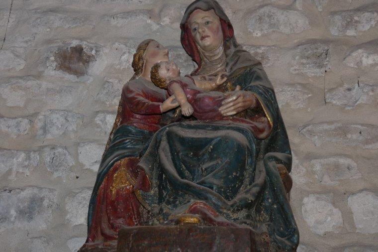 Dans l'église de la Fontaine de Vaucluse