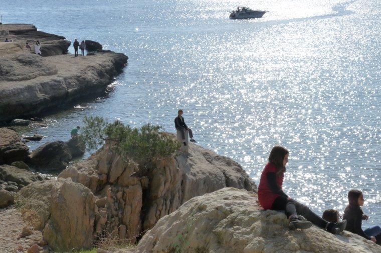 La couronne rocher et plage ,mois de mars 2015 ( photos Pierre Paul )