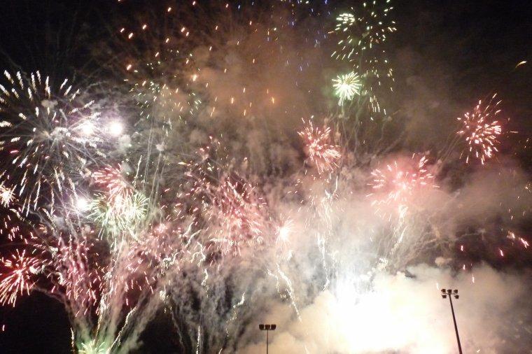 Cette nuit entre 11h 45 et 24h 30 j'étais à Pont de Vivaux - Feu d'artifice