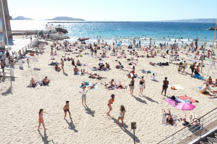 25 Août 2015 Beaucoup de monde en mer et sur les plages
