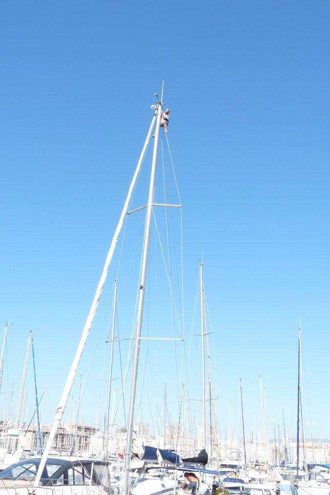 à presque  20 mètres d'hauteur il ne faut pas avoir le vertige ( Photos Pierre Paul )