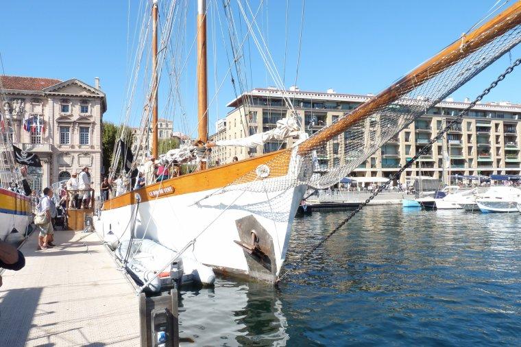 Animations sur le vieux Port à bord du bateau le don du vent ( Photos Pierre Paul)