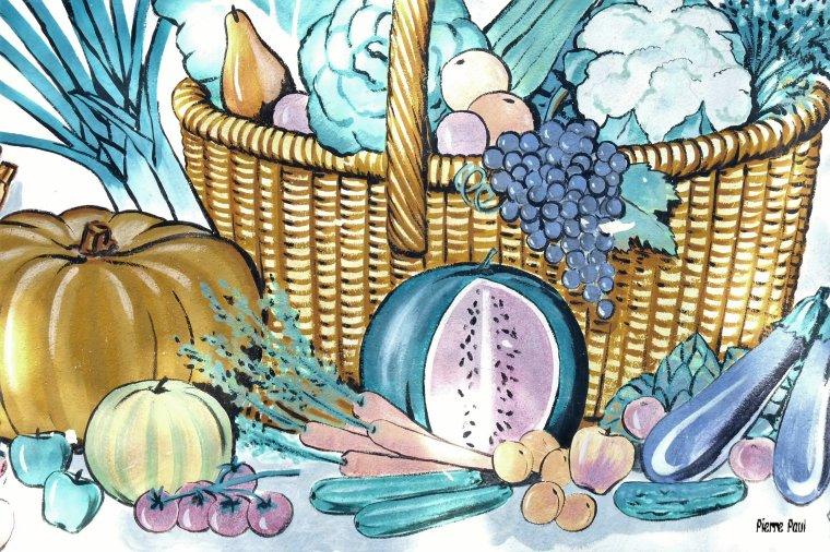 L'Estaque Marseille ,un joli dessin devant un marchand de Fruits et légumes