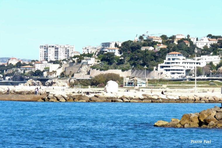 Marseille Corniche (Le haut et le bas ) dimanche bonne fête à toutes les grands mères