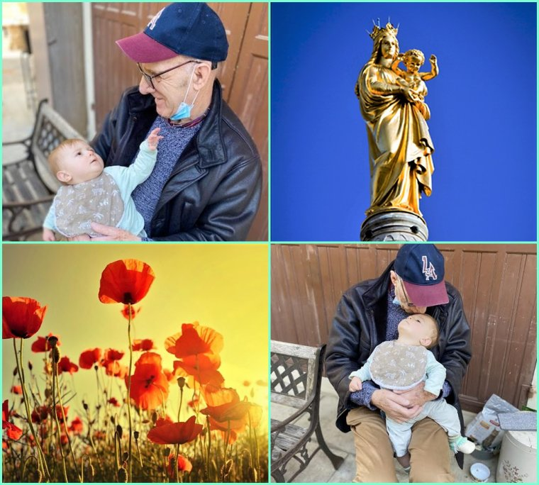 Hugo 8 mois dans trois jours et son arrière grand père qui va  vers ses 78 ans ( 29 11 )