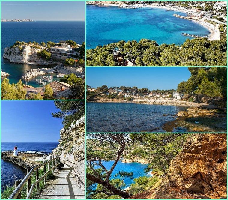 Entre Marseille et Martigues la Cote bleu  - Bisous de Pierre Paul ( 2 photos sur 5 de moi )
