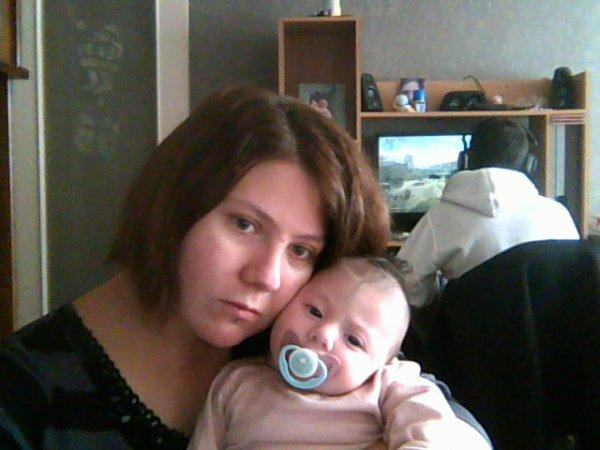 moi et ma petite derniere aléna