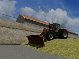 tracteur renault avec la rape