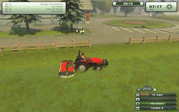 fauchage de l'herbe