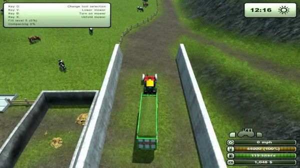 ramassage d'herbe