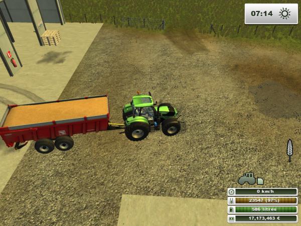 transport du blé