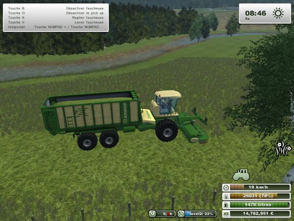 fauchage et ramassage d'herbe