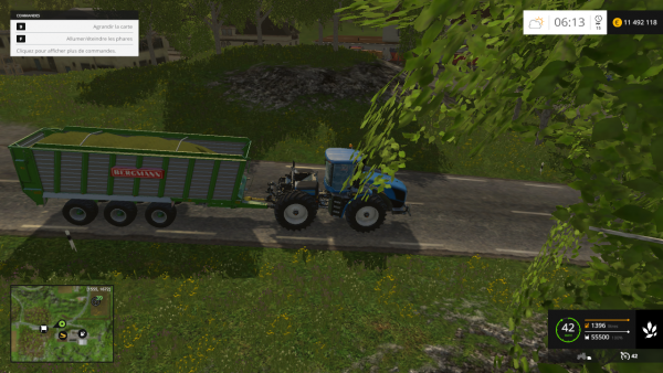 transport d'ensilage