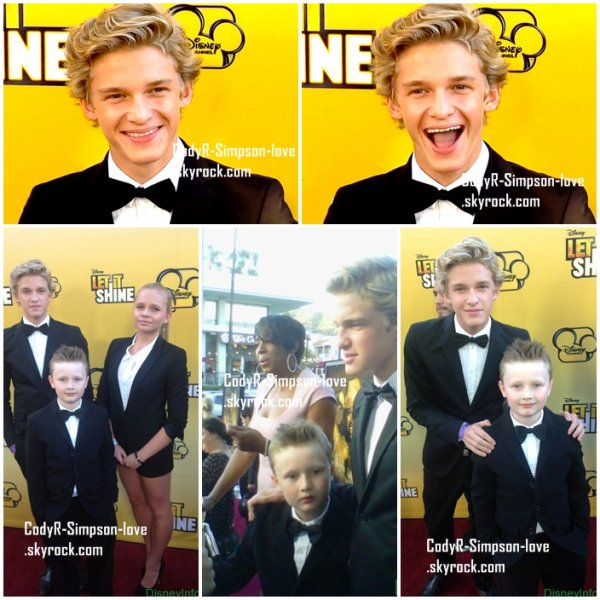 "Cody at the Premiere of ""Let It Shine"""