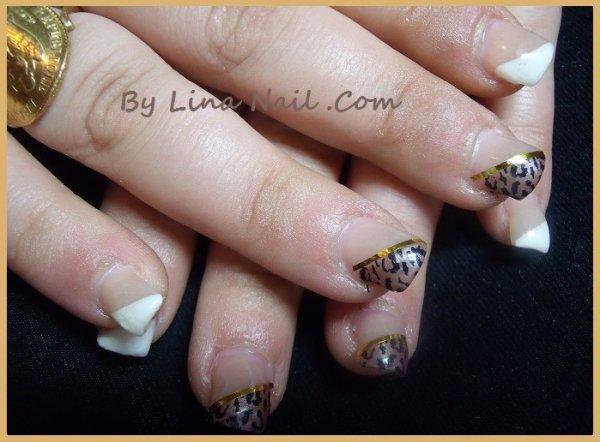 deco leopard ongle gel