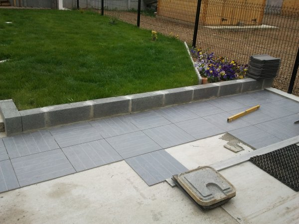 Carrelage Exterieur Gris Affordable Dalles Granit Gris With