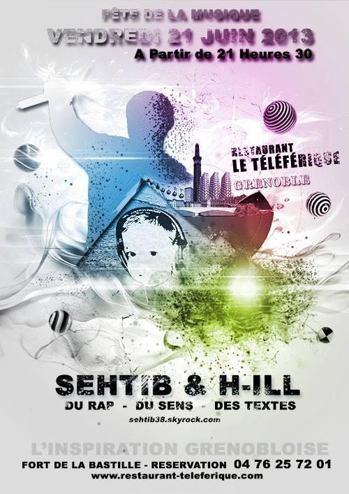 Affiche pour la fête de la musique 2013 Sehtib et H-ill en live