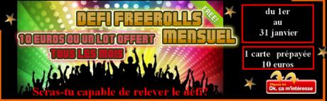 défi freerolls mensuel tbkpokerteam 2013
