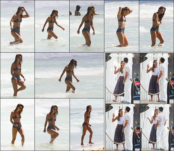 ► 26/03/17 ▬  Mélissa en maillot profite des plages de Cancun, en compagnie de Chris W. ▬ Mexique.  Petite pause dans le tournage de Supergirl, la belle prend des vacances, j'aime beaucoup son maillot!