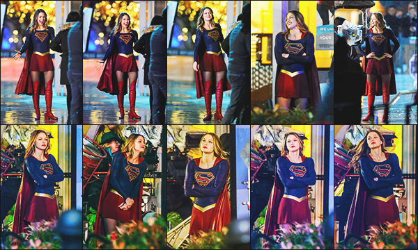 ► 10/03/17 ▬  Mélissa était sur le tournage de la saison 2 de la série Supergirl à Vancouver ▬ Canada  Le tournage de la saison 2 continue, mel à l'air de beaucoup s'amuser, elle est superbe dans son costume!