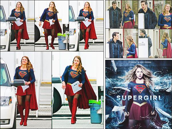 ► 25/04/17 ▬  Mélissa était sur le tournage de la fin de saison 2 de Supergirl à Vancouver ▬ Canada  Le tournage prend bientôt fin, Mel tourne les dernières scènes. Nouvelle affiche pour l'épisode 19 de supergirl!